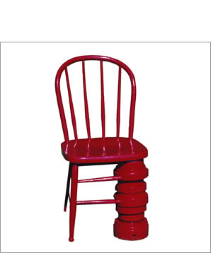 Red Dump Chair