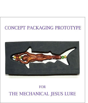 Mechanical Jesus Lure Concept Packaging